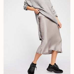 Free People Bais Midi Skirt